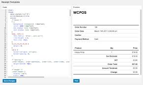 point of sale receipt template receipts woocommerce pos manual