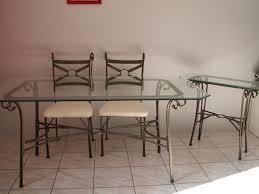table de cuisine en fer forgé table fer forgé conforama intérieur déco