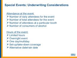 one day event insurance special events insurance considerations 2013 10