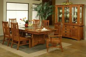 Stunning Solid Oak Dining Room Table Gallery Home Design Ideas - Mission dining room table