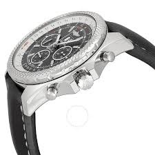 bentley breitling diamond breitling bentley 6 75 speed grey dial black leather men u0027s watch