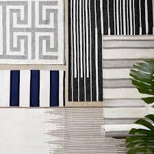 Ikat Outdoor Rug Perennials Ikat Stripe Indoor Outdoor Rug Flax Williams Sonoma