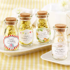 baby shower bottle favors vintage personalized milk baby shower favor jar baby shower