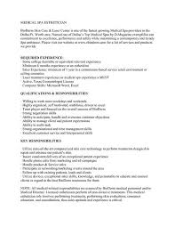 Nanny Job Responsibilities Resume by Esthetician Resume No Experience Sample Entry Level Estheticians