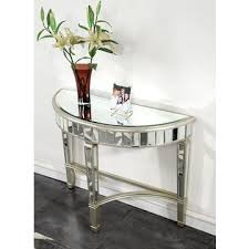 Half Moon Table Half Moon Table Gold Clear Mirror Global Sources