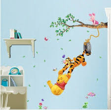 sticker pour chambre stickers winnie l ourson awesome winnie l ourson fleurs stickers