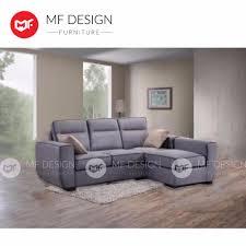 mf design mf design l shape sofa 3 seater lazada malaysia