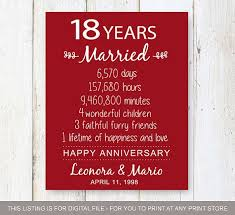 18th anniversary gift 18th wedding anniversary gift ideas him wedding gifts