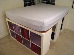 Diy Platform Storage Bed Queen by Bed Frames Diy Platform Storage Bed Plans How To Build A