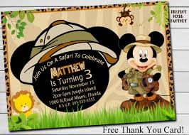Mickey Mouse Invitation Cards Printable Safari Mickey Birthday Party Mickey Mouse Invitationsafari
