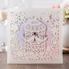 wishmade cheap invitation cards with birdcage design wedding cards