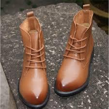 womens boots handmade layer cowhide handmade ankle half boots sen