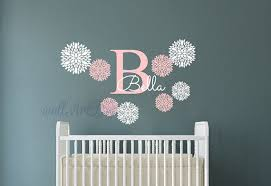 Monogram Wall Decals For Nursery Monogram Wall Decals Nursery Name Wall Sticker Baby Room