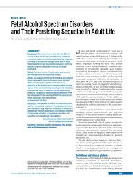 fetal alcohol spectrum disorders and their persisting sequelae in