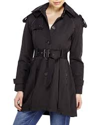 french connection black skirted trench coat in black lyst