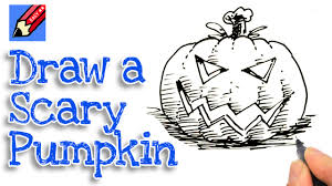 how to draw a pumpkin head for halloween real easy spoken