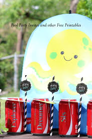 make pool party fun with cute invitations and free printables my