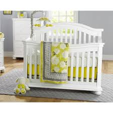 White Convertible Baby Crib Bedroom Beautiful Space For Your Baby With Convertible Crib