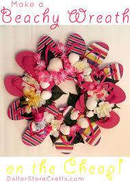 flip flop wreath tutorial flip flop wreath dollar store crafts