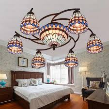 Twig Light Fixtures Vintage 8 Light Stained Glass Ceiling Light Fixtures Twig
