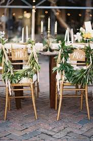Bride And Groom Chair Signs Bride And Groom Chair Back Ideas The Wedding Of My Dreams Blog