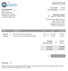 small business receipt template the 10 different sections of an electronic payment invoice take your small business