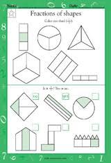 halves and fourths math practice worksheet grade 1 teachervision