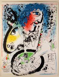 original lithographs and etchings by marc chagall 20th century