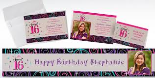 custom celebrate sweet 16 invitations thank you notes city