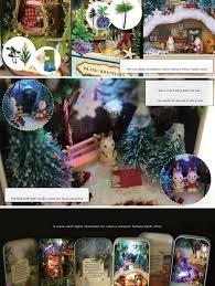 cuteroom diy dollhouse miniature led light box theatre gift decor