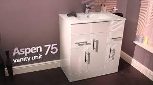 aspen 75cm vanity unit