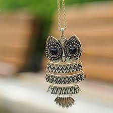 big owl necklace images Bronze big eyes owl necklace kitty cat pendant jpg