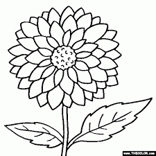 large flower coloring pages aecost net aecost net