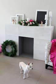 simple faux fireplace christmas pinterest faux fireplace