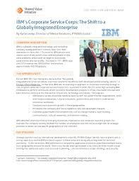how to write a business case study paper case study ibm s corporate service corps the shift to a read the entire shared value initiative case study ibm s corporate service corps the shift to a globally integrated enterprise here