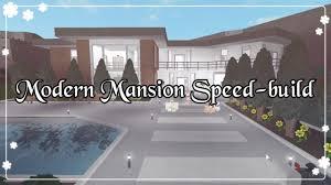 modern mansion bloxburg modern mansion speed build youtube