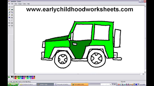 jeepney drawing how to draw a jeep car easy step by step youtube
