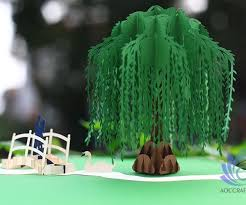 willow tree pop up card aoc craft jsc