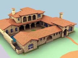 hacienda house plans elevation renderings isamar1 pinterest haciendas