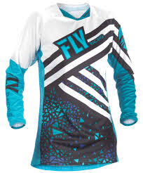 womens motocross riding gear women u0027s kinetic blue black jersey fly racing motocross mtb