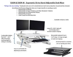 adjustable monitor stand for desk latitude run replogle eadr 32 x 20 deluxe ergonomic height