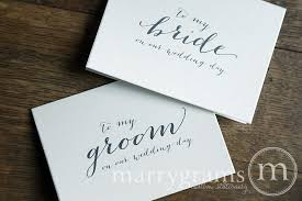 card from to groom to my on our wedding day card or groom handwritten