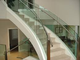Glass Staircase Banister Curved Glass Staircases Products Coastal Curved Glass
