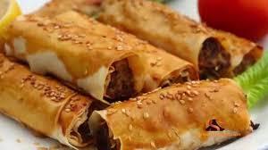 cuisine turque en borek turque à la viande hachée بوراك تركي باللحم المفروم borek