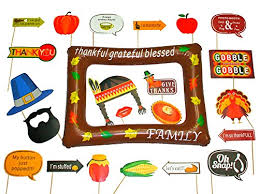 thanksgiving photo booth props happy thanksgiving day photo booth props decorations