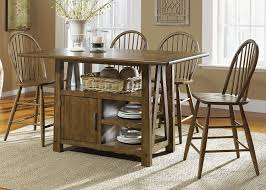 farm table kitchen island farmhouse casual dining centre island pub table in