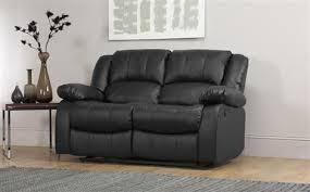 Recliner Sofa Dakota 2 Seater Leather Recliner Sofa Black Only 449 99