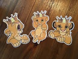 Lion King Decorations Crowned Simba Lion King Cutouts Diecuts Lion King Baby Shower