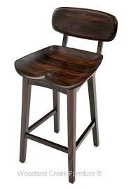 Bar Stool With Backrest Contemporary Wooden Bar Stool With Backrest Tractor Seat