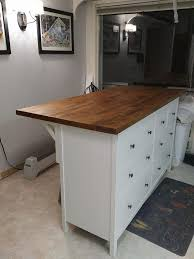 a kitchen island i made a kitchen island with the karlby countertop and hemnes